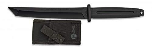 Cuchillo Entrenamiento Katana Tanto japones Negro 18,4 cm para entrenar artes marciales, dummy, airsoft, paintball,...