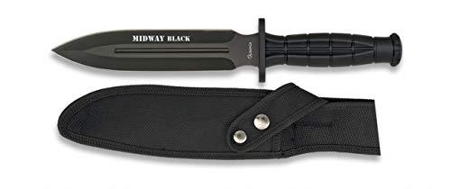 Albainox 32287 Cuchillo Supervivencia ALB. Midway Black. 18 Herramienta para Caza, Pesca, Camping, Outdoor,...