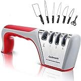 Godmorn Afilador de Cuchillos Profesional, 4 en 1 Knife Sharpener, Afilador Cuchillos Manuales de Cocina de 4 Etapas...