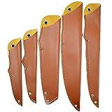 TUYU PU Funda de cuchillo de cuero, Protector de la cuchilla protector, Fundas de cuchillos de cuero, Guardia de la...