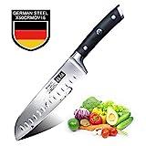 Cuchillo Santoku Japones, SHAN ZU Cuchillos de Cocina Profesionales 18cm, 7 ''Cuchillo Chef de Acero Inoxidable Alemán...