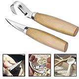(2pc) Juego de Cuchillo para Tallar Madera Cuchillo de Gancho,Escultura de Cinceles para DIY,Herramientas de Grabado en...
