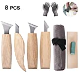 Juego de herramientas de tallado de madera, juego de cinceles de madera, cuchillo de tallar para principiantes