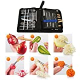 Cuchillos de trinchar, Herramientas de talla, 46 piezas de herramientas de talla culinaria Set guarnición / corte /...