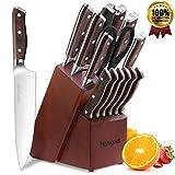 homgeek Cuchillo de Cocina Profesionales, Juego Cuchillos Cocina Hecho de Acero Inoxidable 1.4116 Alemán, Incluye...