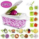 Sedhoom 23 Piezas Cortador de Verdura Mandolina de Verduras Multifuncional Mandolina de Cocina Slicer Espiral Rallador...