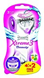 Wilkinson Einwegrasierer Xtreme 3 Beauty - Maquinillas de afeitar desechables (4 unidades + 2 gratis)