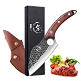 Dream Reach Cuchillo de deshuesar Cuchillos de cuchilla de carne forjada a mano con vaina y caja de regalo cuchillos de...