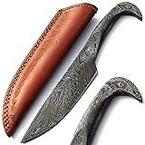 PAL 2000 9379 Cuchillo Hecho a Mano de Acero de Damasco