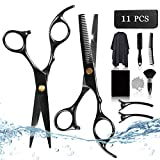 [11 PCS] tijeras peluqueria profesional, KarDition tijeras peluqueria, set peluqueria para mujeres, hombres, niños,...