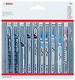 Bosch Professional Set de hojas de sierra de calar 10 uds (para madera y metal, accesorios para sierras de calar con...