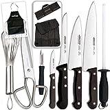 Arcos - Ibili - Kabra Set de Cuchillos para Cocina Kit Chef Plus Edición Bricolemar - con Gadgets de Cocina y Bolsa...