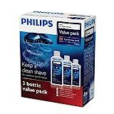 Philips HQ203/50 - Limpiador para afeitadoras (3 unidades, 300 ml)