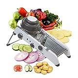ADOV Mandolina de Cocina Profesional, 18 Tipos Multifuncional PL8 Ajustable de Acero Inoxidable Verduras Cortadora para...