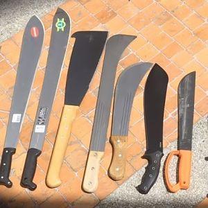 machetes de jardinería